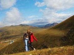 My Slovenian Sister avec Mongolian countryside
