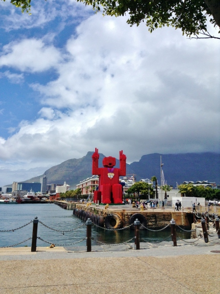 Giant South African Lego Man.