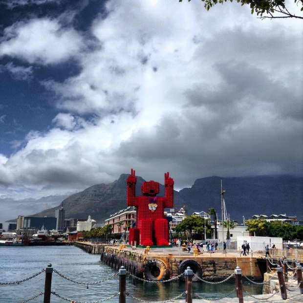 Coca Cola Man in Cape Town, South Africa