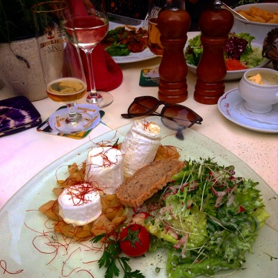 goats cheese salad in oberwesel, germany