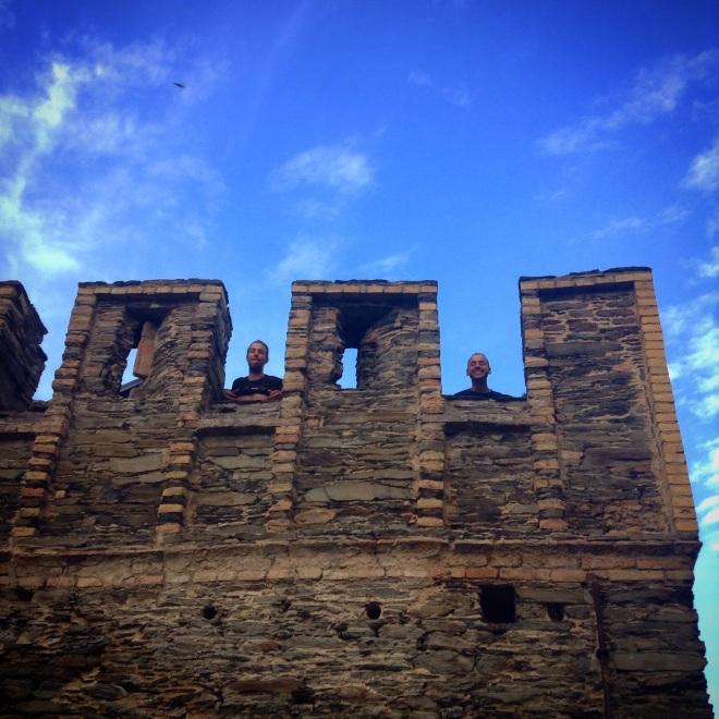boyz in a castle in oberwesel, germany
