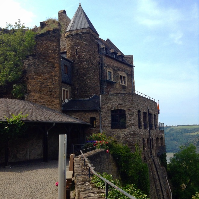 a very old castle in oberwesel, germany on the rhine