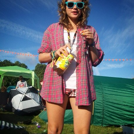 A rare sunny day at Leeds Festival