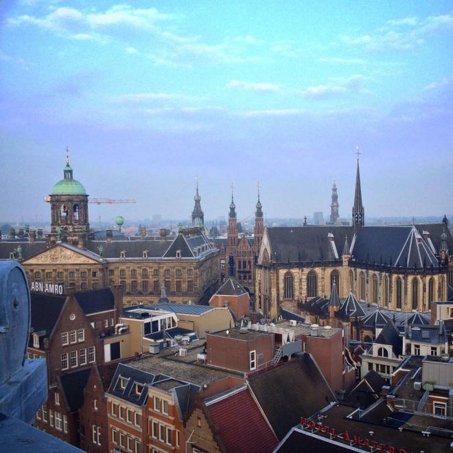 Birds eye view of Amsterdam