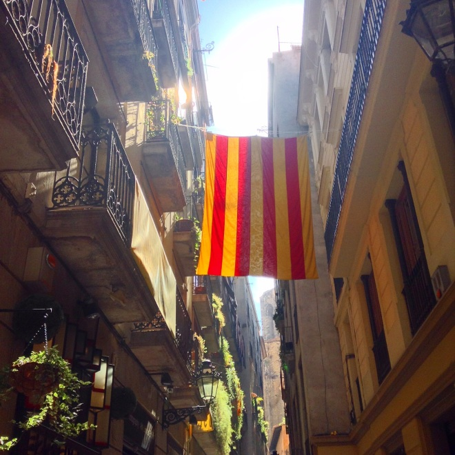 Catalan flag in Barcelona