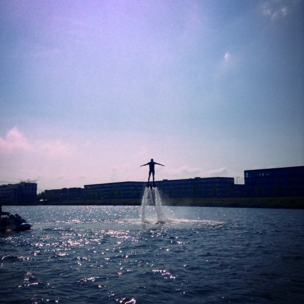 Flyboarding in Amsterdam