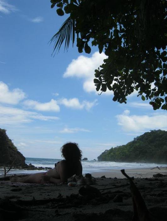 Sunbathing in Costa Rica