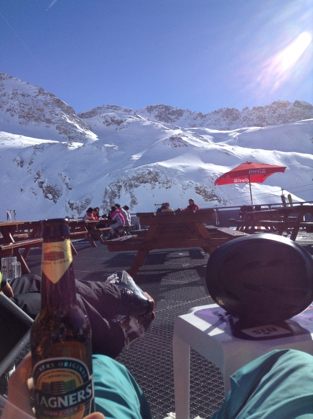Enjoying the French Alps with a Magners