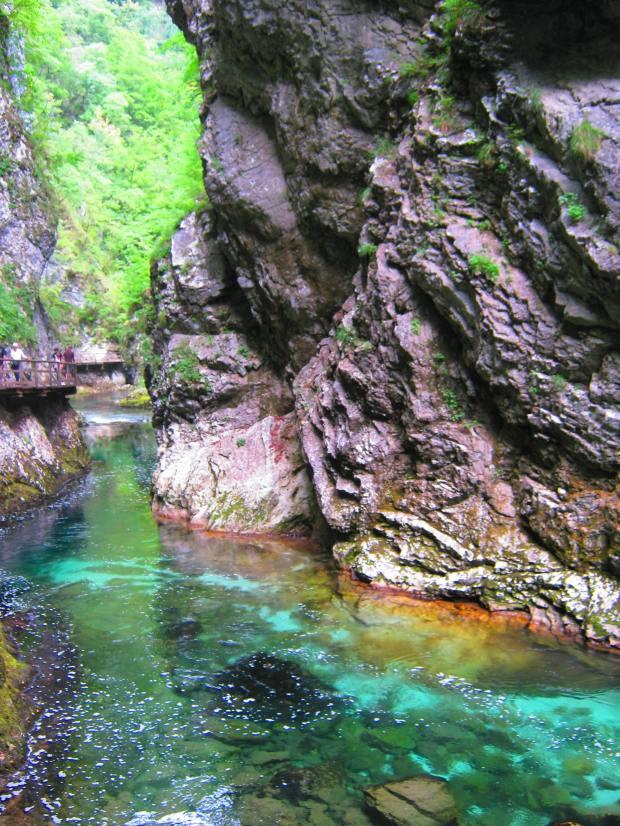 The Soča river in Slovenia