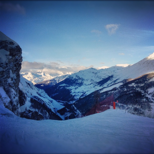 From Tignes to Les Brevieres at Sunset