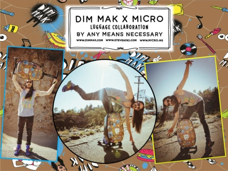 Steve Aoki Micro 3-in-1 travel scooter luggage!
