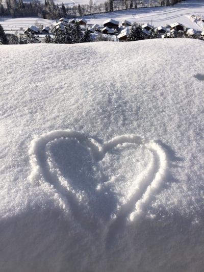 Love in the snow in France
